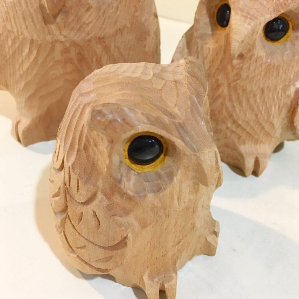 木彫りフクロウ