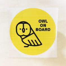 OWL ON BOARDステッカー(フクロウ)