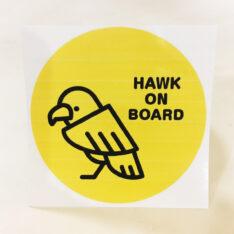 HAWK ON BOARDステッカー(タカ)